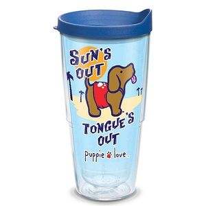 NWT 24oz Tervis Tumbler + Lid Puppie Love Suns Out